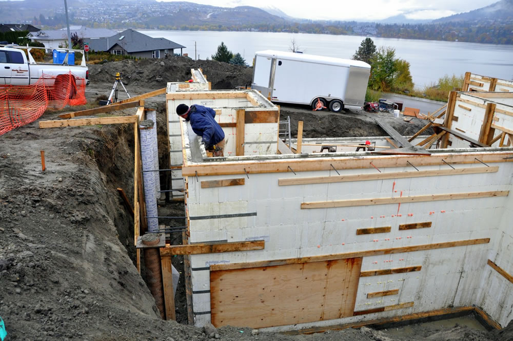 Insulated concrete form icf construction Icf basement cost